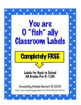 """You Are O """"fish"""" ally Labels"""