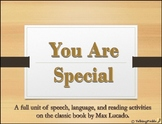 """""""You Are Special"""" Speech Activities"""