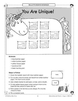 You Are Unique! Bulletin Board
