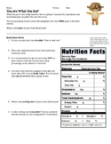 Nutrition Label and Ingredient Analysis Activity