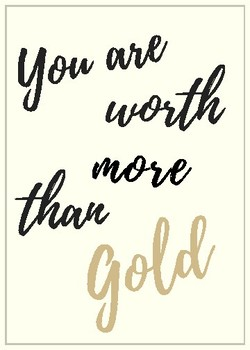 You Are Worth More Than Gold Staff Appreciation Card
