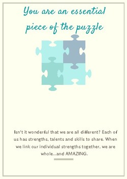 You Are an Essential Piece of the Puzzle Staff Appreciation Card