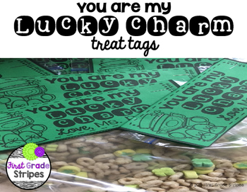 You Are my Lucky Charm Treat Tags