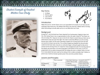 You Are the Lawyer! Titanic Case Study Essay