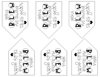 You BLEW Me Away Gift Tag
