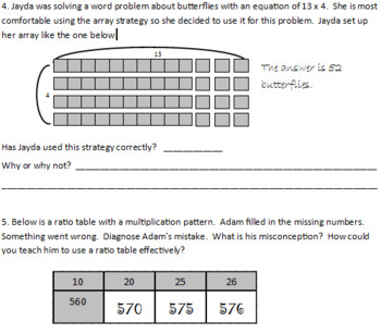 You Be The Teacher: Exploring Multiplication Strategies