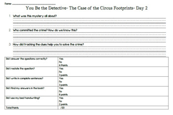You Be the Detective (Level Q) Guided Reading Lesson Plan