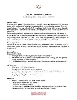 You Be the Financial Advisor