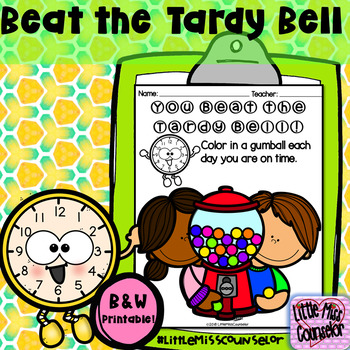 You Beat the Tardy Bell/Came to School:  Gumball Coloring Sheet