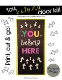 You Belong Here Door Decoration Kit