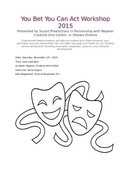 You Bet You Can Act Workshop
