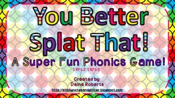 You Better Splat That! Phonics Game