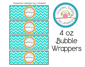 You Blew Me Away... Bubble Wrappers for 4oz Bubbles...End of Year Gift