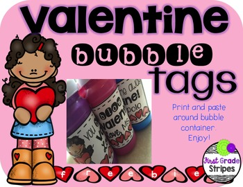 You Blow Me Away Valentine Bubble Tags