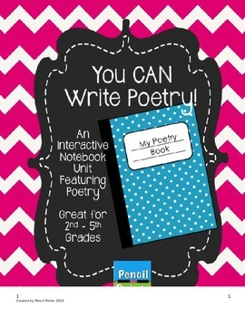 You CAN Write Poetry! An Interactive Notebook Unit