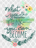 """""""...You Can Become"""" Graphic for Classroom Needs or Blog Posts"""