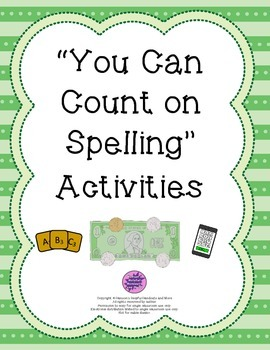 """You Can Count on Spelling"" Activities"