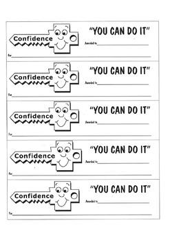You Can Do It Awards- confidence, persistence, organisatio