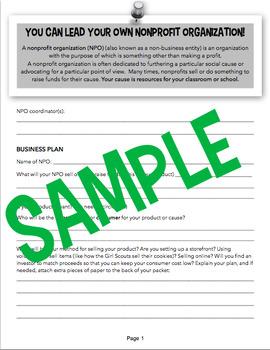 You Can Run a Non-Profit Organization! PBL with an Economics Twist!