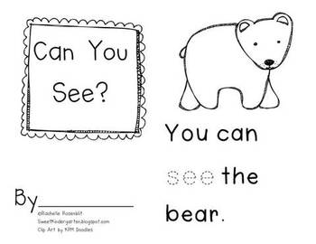 """You Can See"" Little Book & Pocket Chart Set"