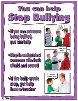 You Can help Stop Bullying Poster - PBIS