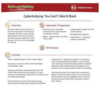 You Can't Take it Back; Cyberbullying