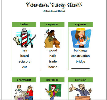 You Can't say that! A fun taboo type speaking activity - BUNDLE with 144 cards