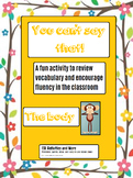 You Can't say that! A fun taboo type speaking activity -THE BODY