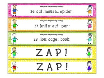 You Can't Fool Me! Analogies ZAP!