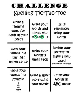 You Choose - Word Work