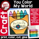 You Color My World Multi Occasion Card Craft