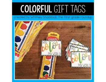 Gift Tags and Valentine Cards: Color