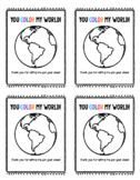 You Color My World Student Gift Tags