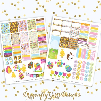 You Crack Me Up Easter Printable Planner Stickers Mini Kit