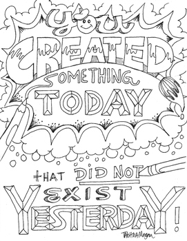 You Created Something Today