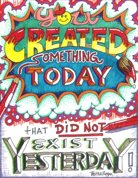 You Created Something Today poster