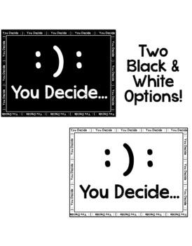 You Decide Poster Freebie