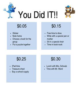 You Did It!  Reward List