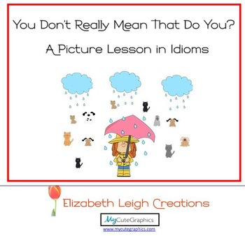You Don't Really Mean That Do You?  A Picture Lesson in Idioms