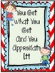 You Get What You Get And You Appreciate It!