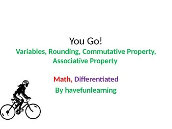 You Go - Math, Differentiated  - Simplified Language, Complex Concepts - A -