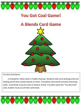 You Got Coal...A Blends Card Game