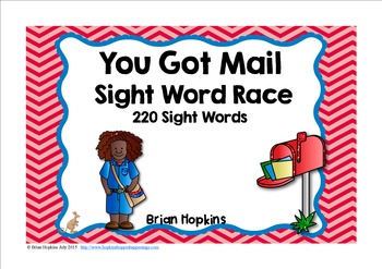 You Got Mail Sight Word Race