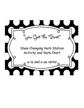 You Got The Boot! - Stem Changing Verb Activity