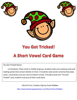 You Got Tricked... A Short Vowel Card Game