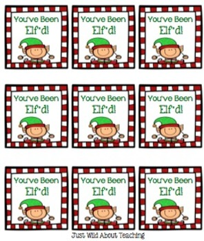 You Have Been Elf'd {elf freebie with tags & stamps to promote good behavior}
