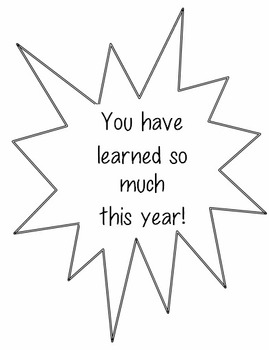 You Have Learned So Much This Year - An I Can Statement Bu