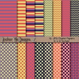 You Have My Heart (Girly Colors) Chevron, Polka Dot & Striped Paper Pack