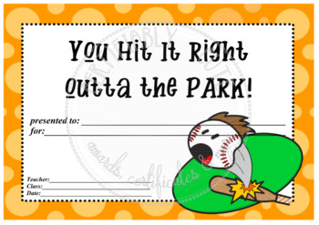 You Hit it Right Outta the Park!