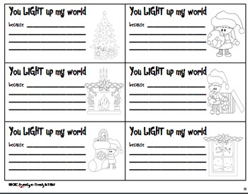 You LIGHT Up My World - Holiday Cards, Tags, and Letters for Kids